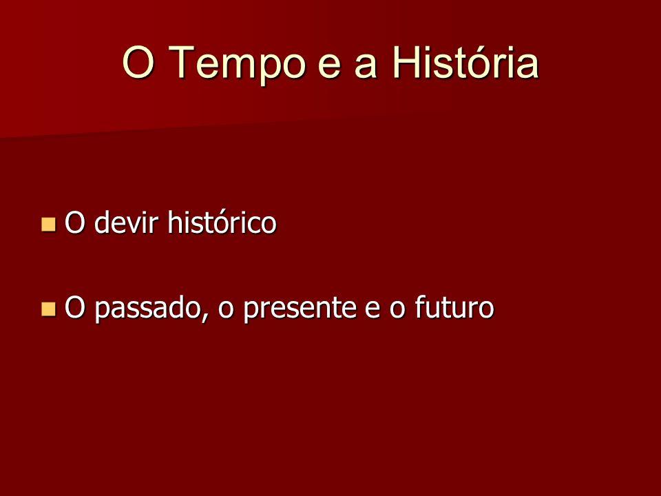 O Tempo e a História O devir histórico