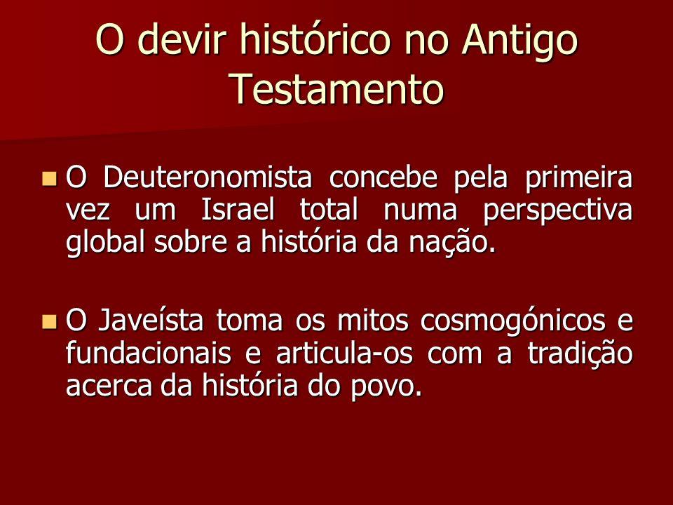 O devir histórico no Antigo Testamento