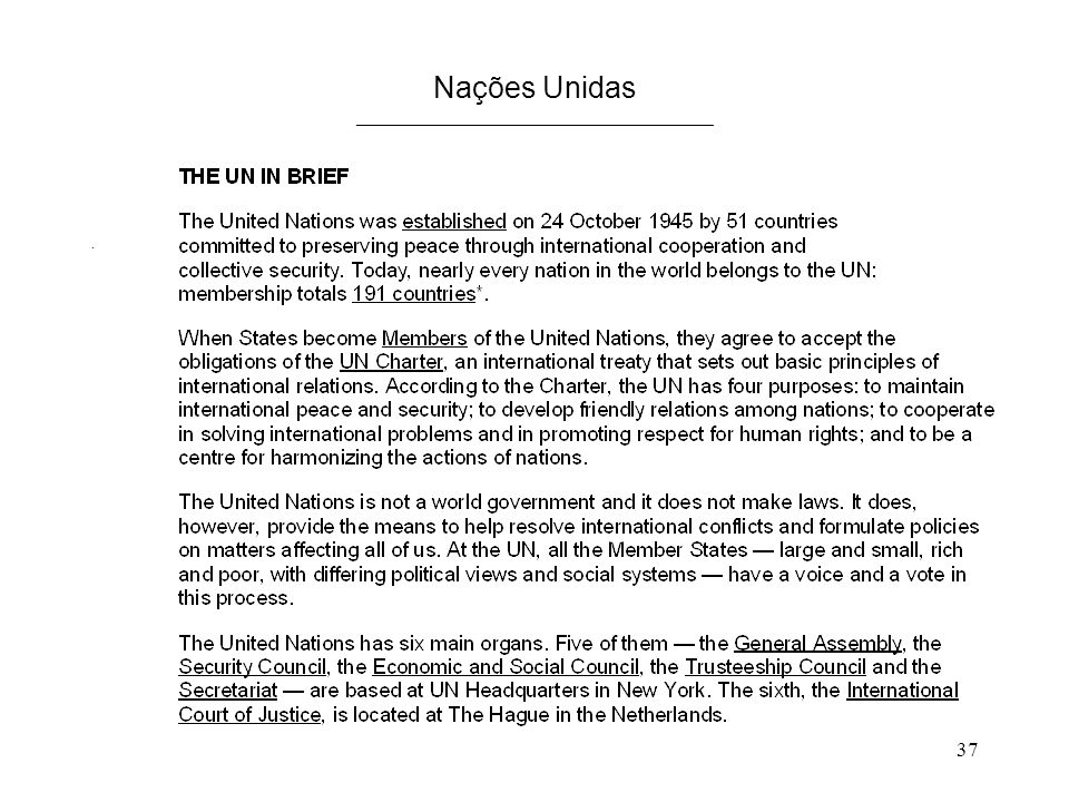 Nações Unidas ____________________________________