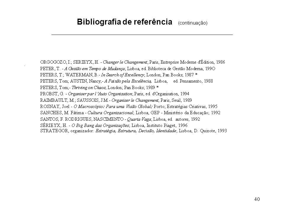 Bibliografia de referência (continuação) _____________________________________________________________________