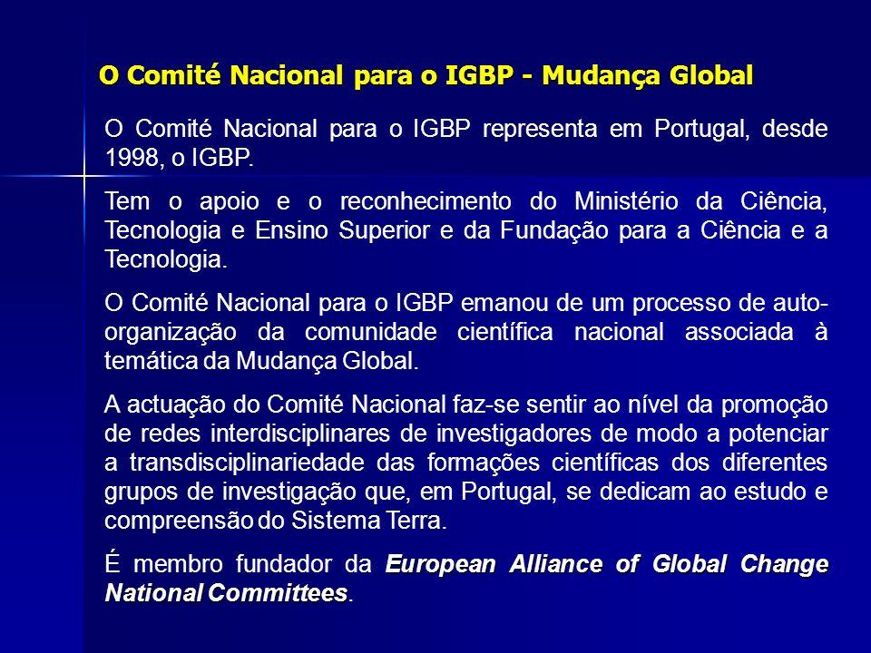 O Comité Nacional para o IGBP - Mudança Global