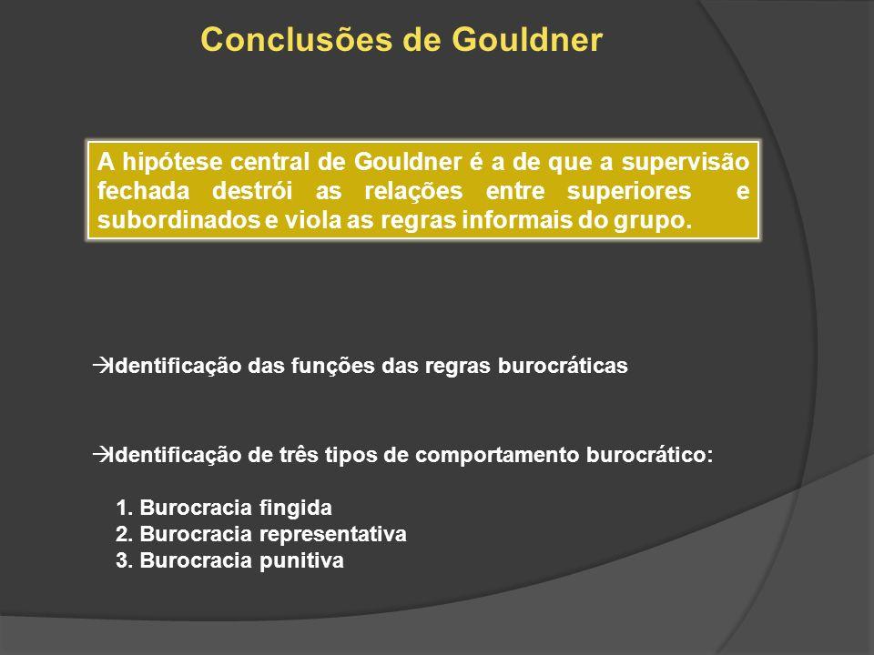 Conclusões de Gouldner
