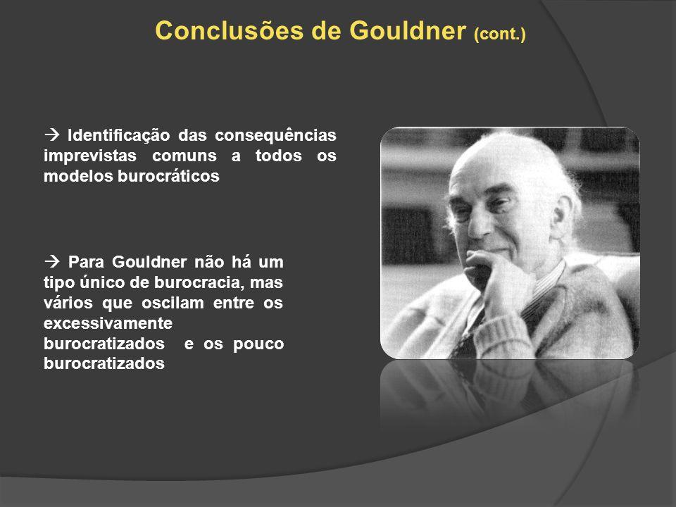 Conclusões de Gouldner (cont.)