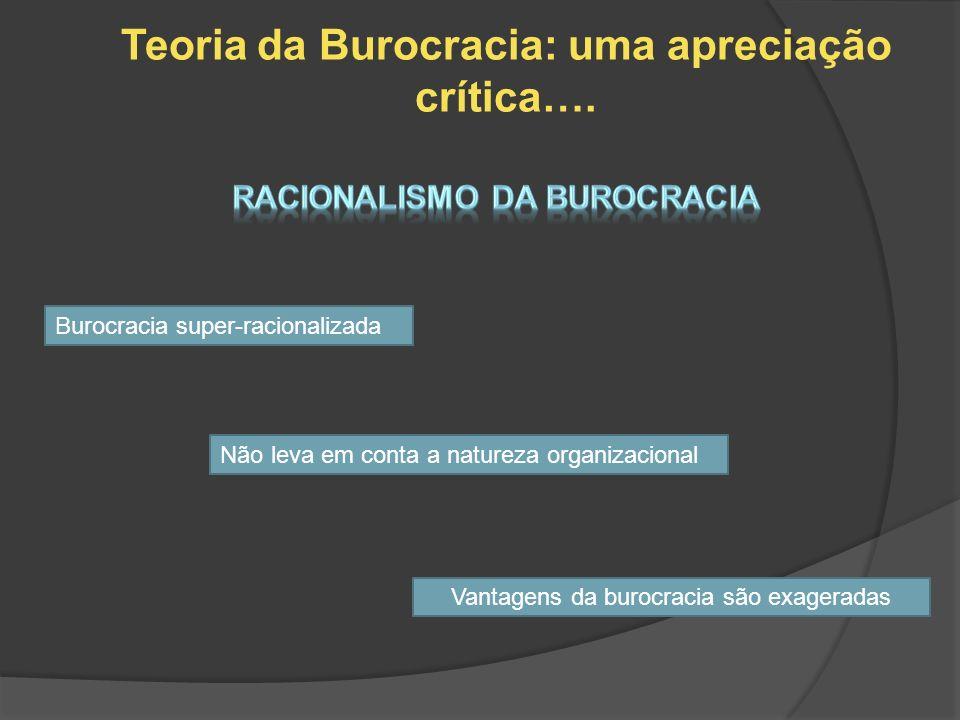 Teoria da Burocracia: uma apreciação crítica….