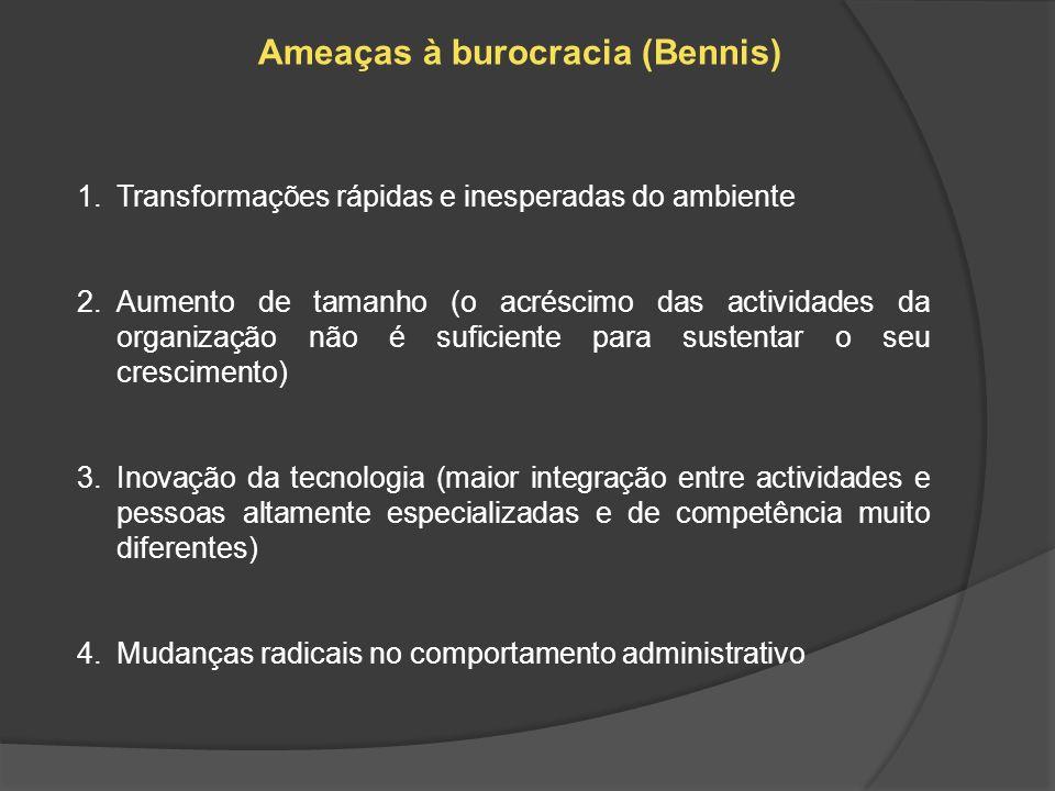 Ameaças à burocracia (Bennis)