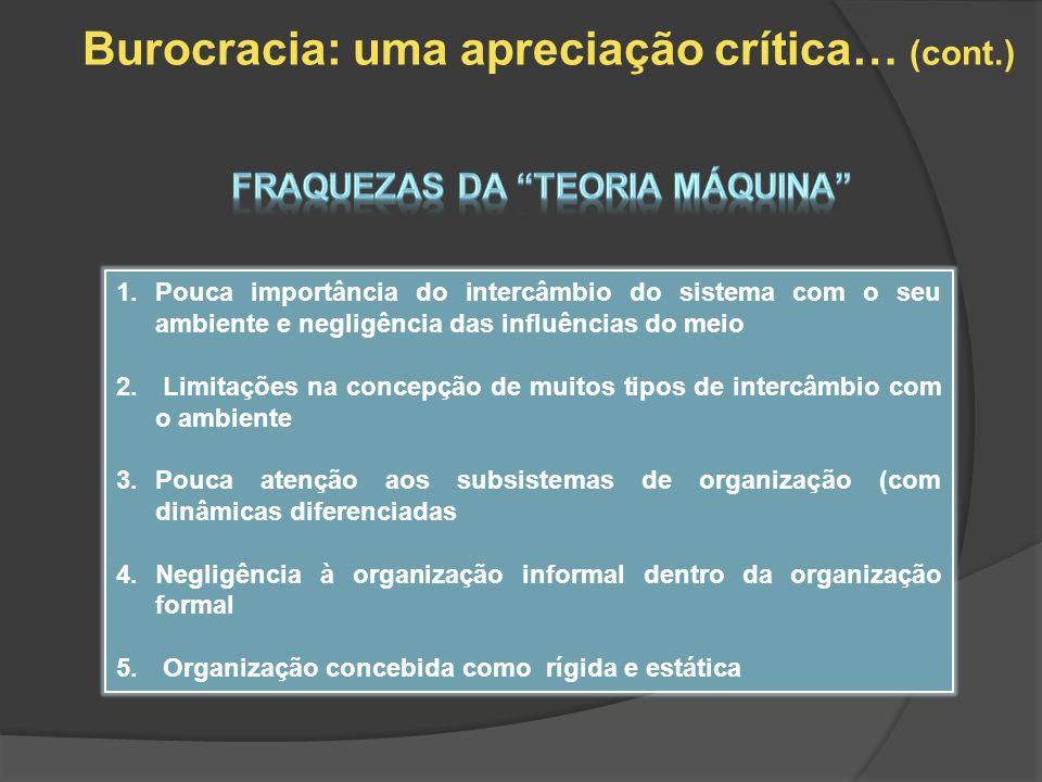 Burocracia: uma apreciação crítica… (cont.)