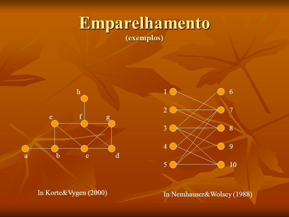 Emparelhamento (exemplos)