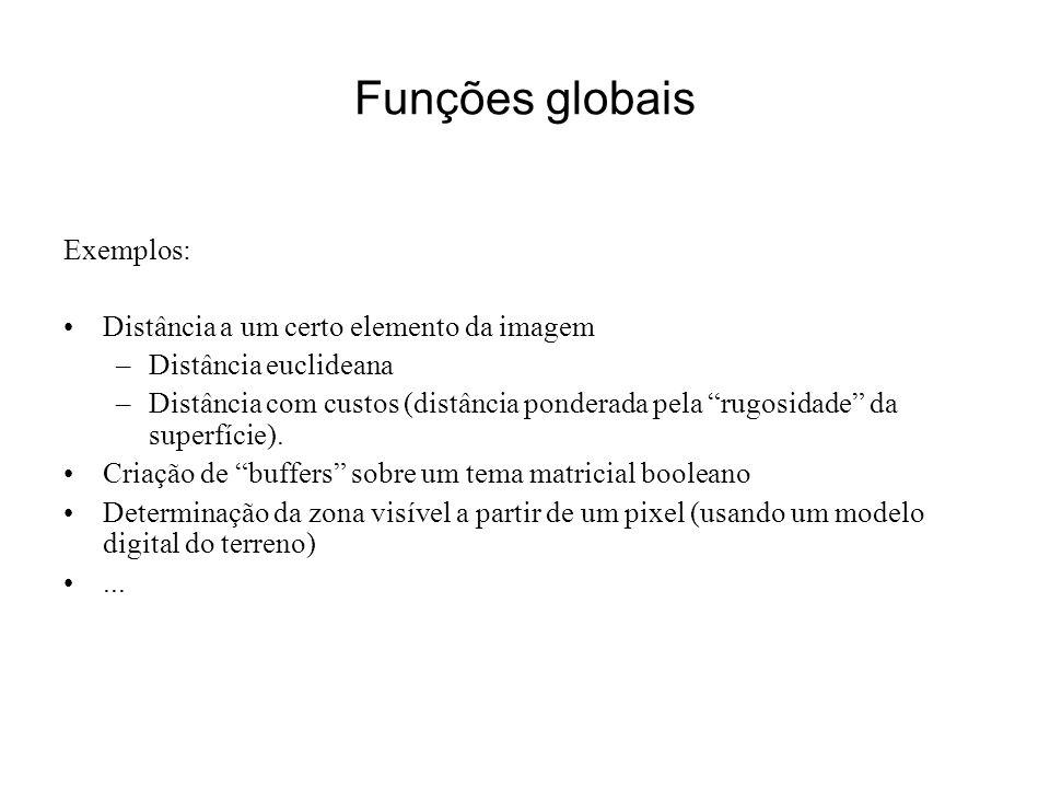 Funções globais Exemplos: Distância a um certo elemento da imagem