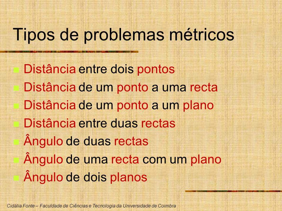 Tipos de problemas métricos