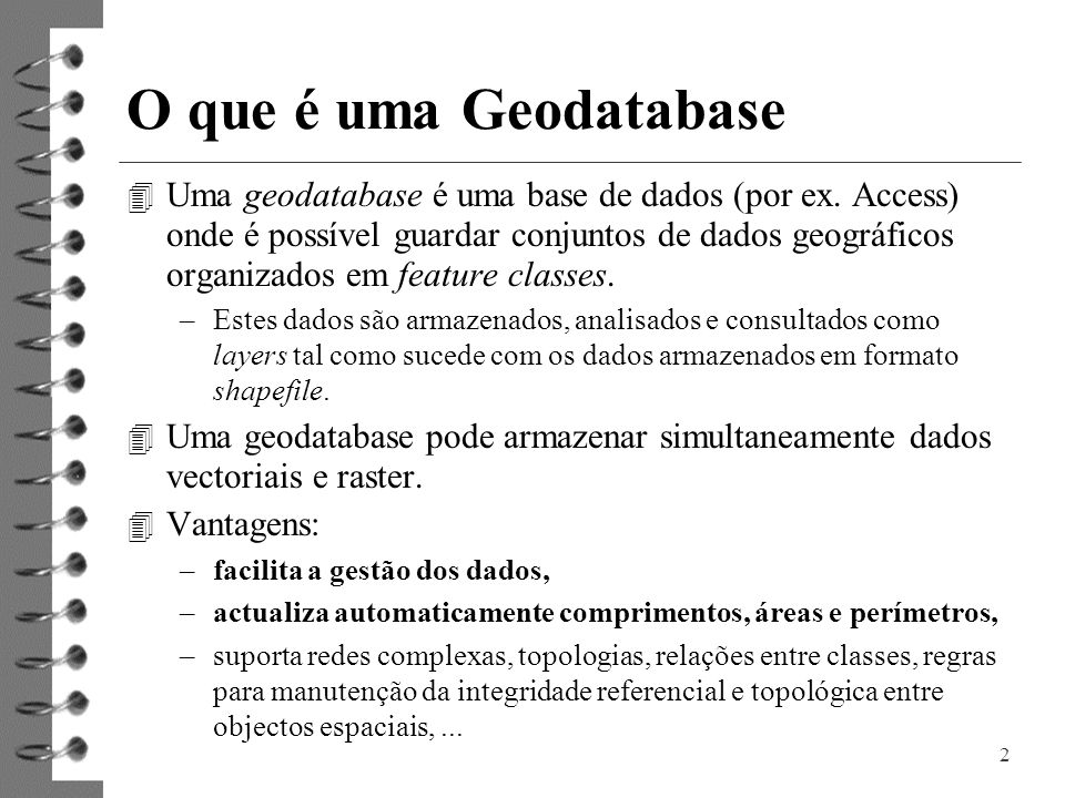 O que é uma Geodatabase