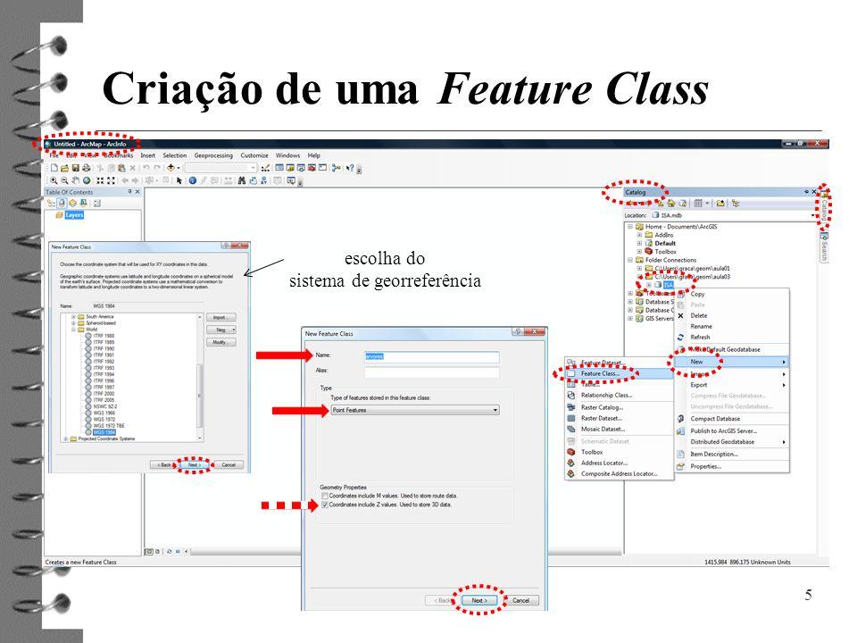 Criação de uma Feature Class