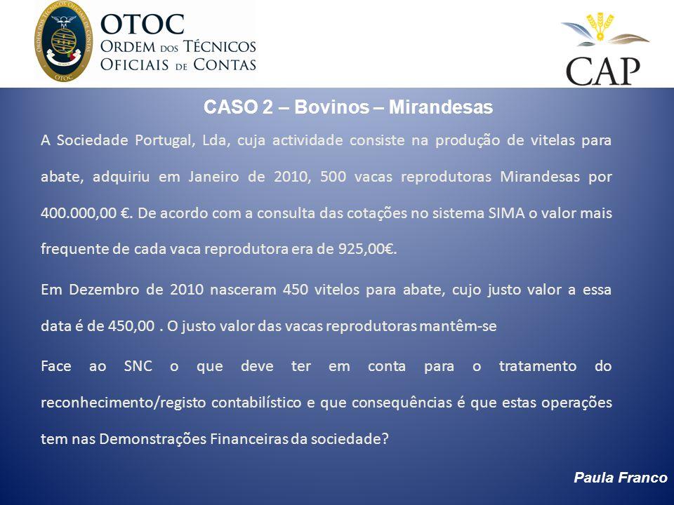 CASO 2 – Bovinos – Mirandesas