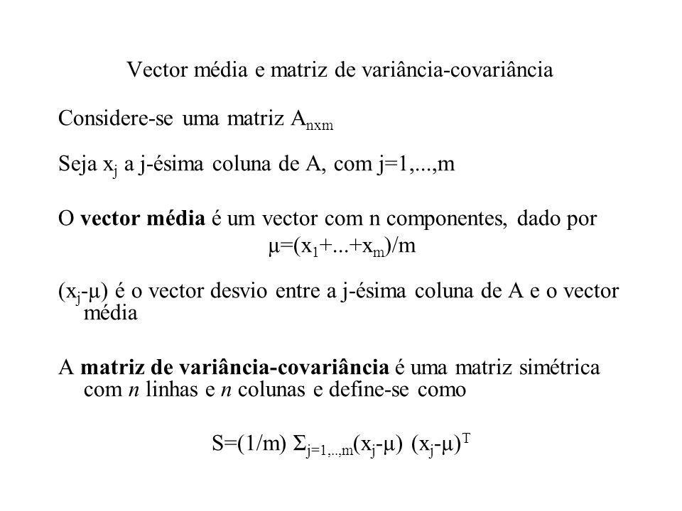 Vector média e matriz de variância-covariância