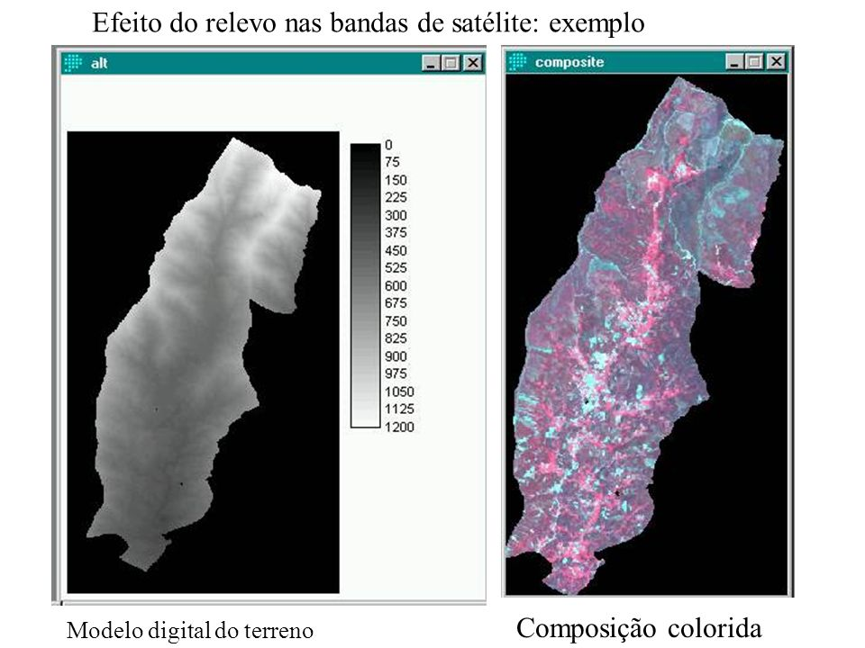 Efeito do relevo nas bandas de satélite: exemplo