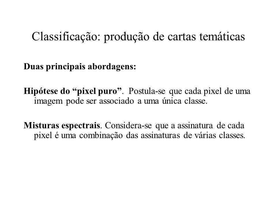 Classificação: produção de cartas temáticas