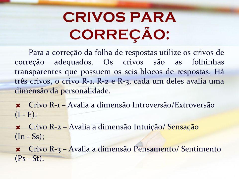 CRIVOS PARA CORREÇÃO: