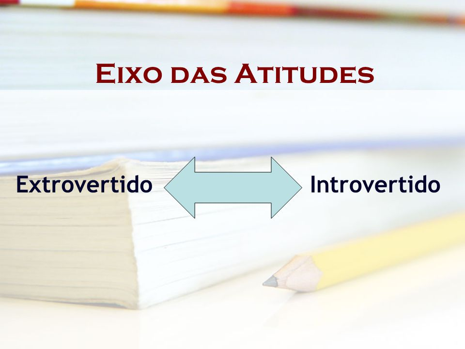 Eixo das Atitudes Extrovertido Introvertido