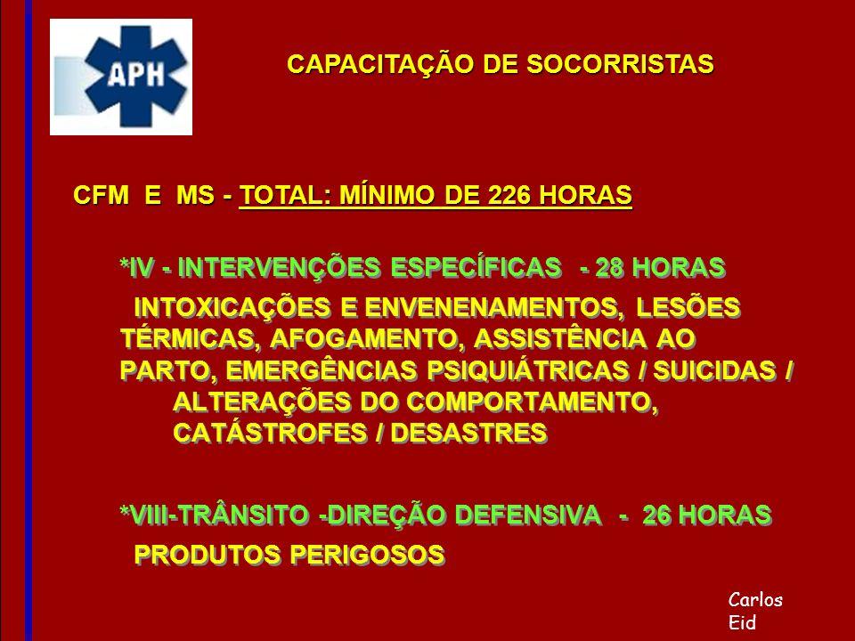 CAPACITAÇÃO DE SOCORRISTAS