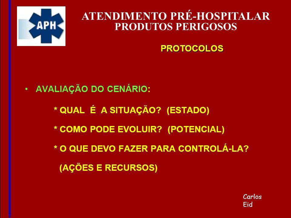 ATENDIMENTO PRÉ-HOSPITALAR PRODUTOS PERIGOSOS