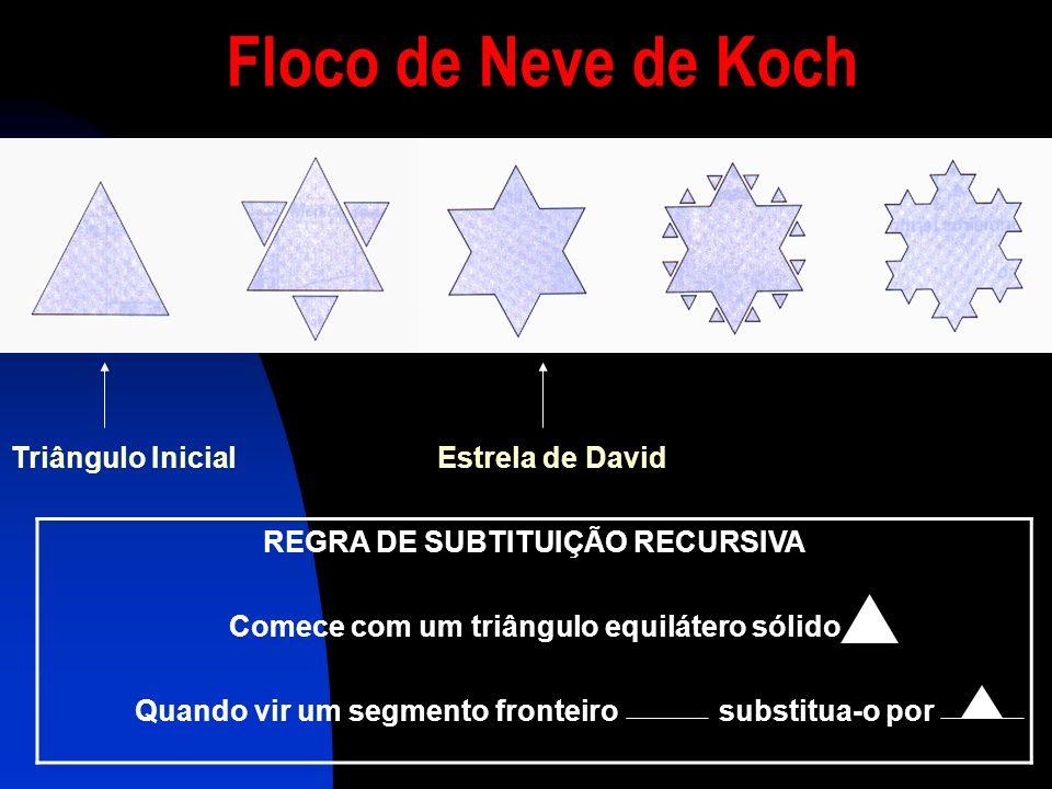 Floco de Neve de Koch Triângulo Inicial Estrela de David
