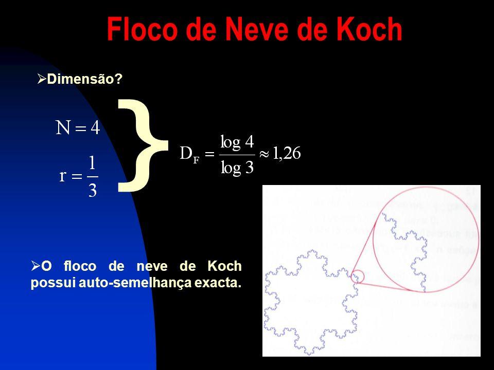 } Floco de Neve de Koch Dimensão
