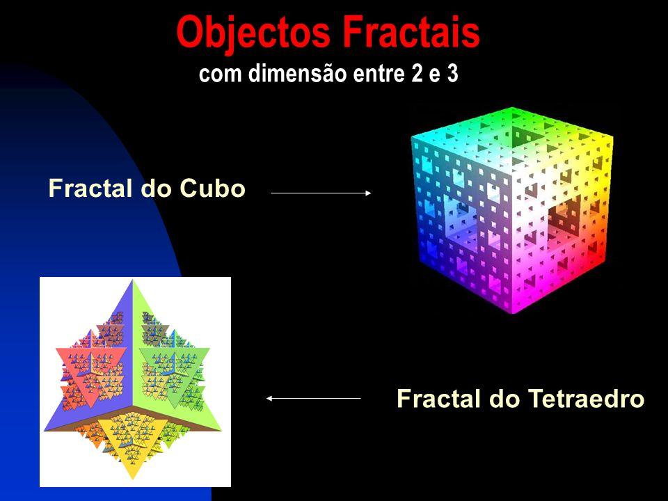 Objectos Fractais com dimensão entre 2 e 3