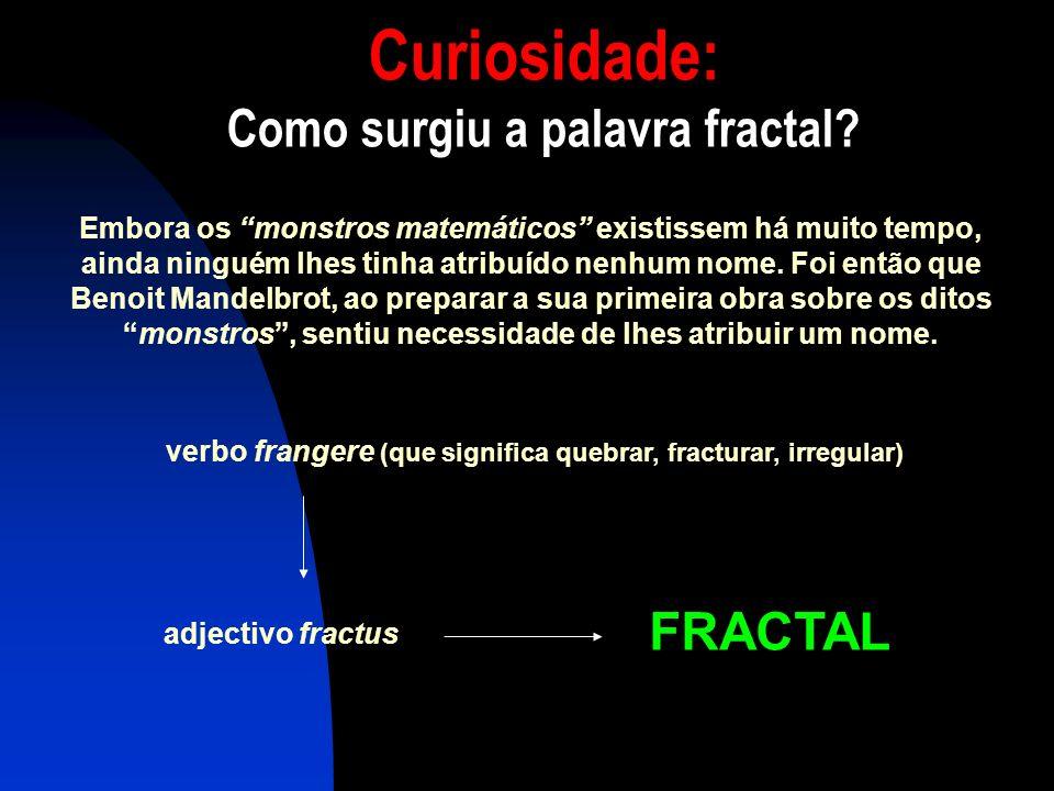 Curiosidade: Como surgiu a palavra fractal