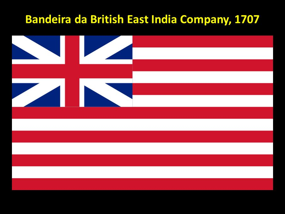 Bandeira da British East India Company, 1707