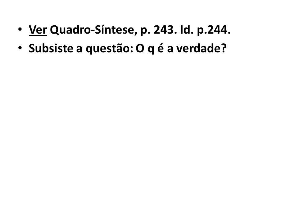 Ver Quadro-Síntese, p. 243. Id. p.244.