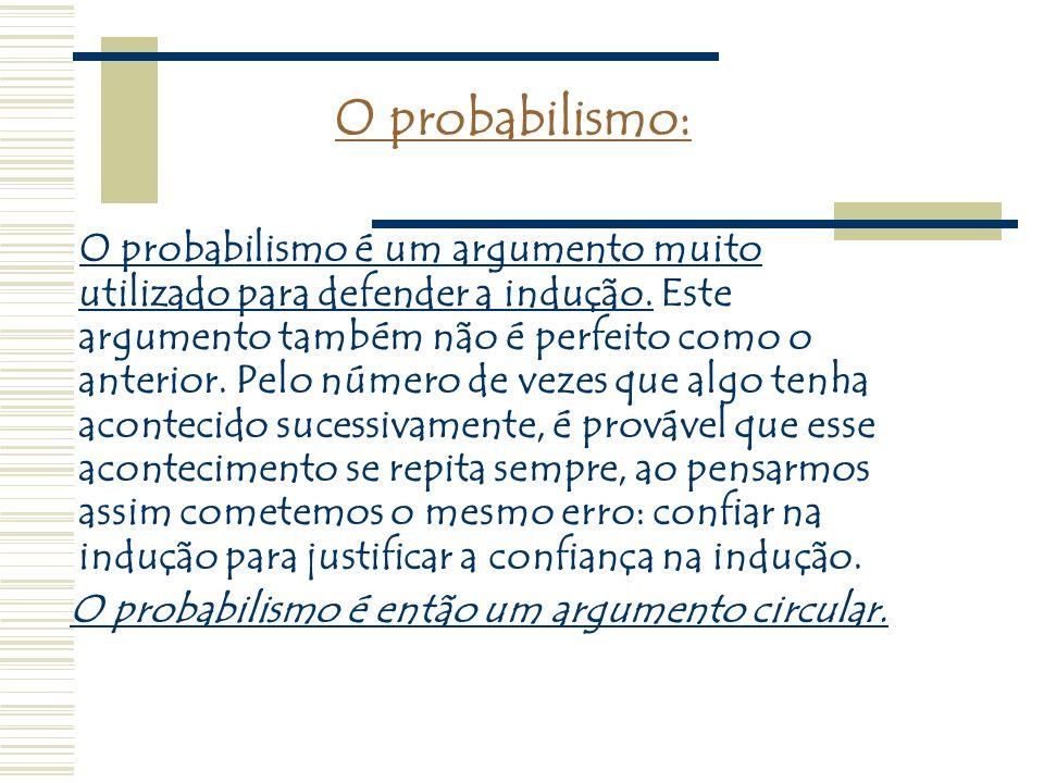 O probabilismo:
