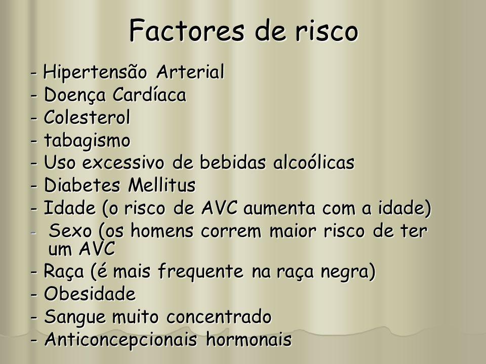 Factores de risco - Doença Cardíaca - Colesterol - tabagismo