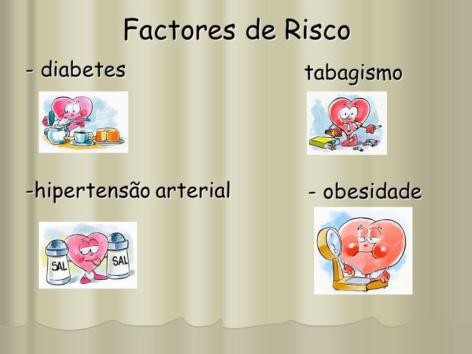Factores de Risco - diabetes tabagismo -hipertensão arterial