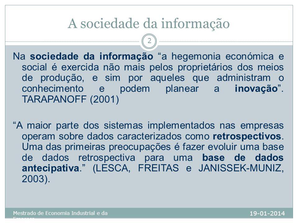 A sociedade da informação
