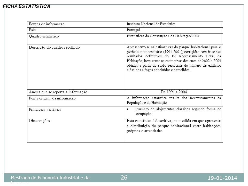 FICHA ESTATISTICA 25-03-2017 Fontes de informação País