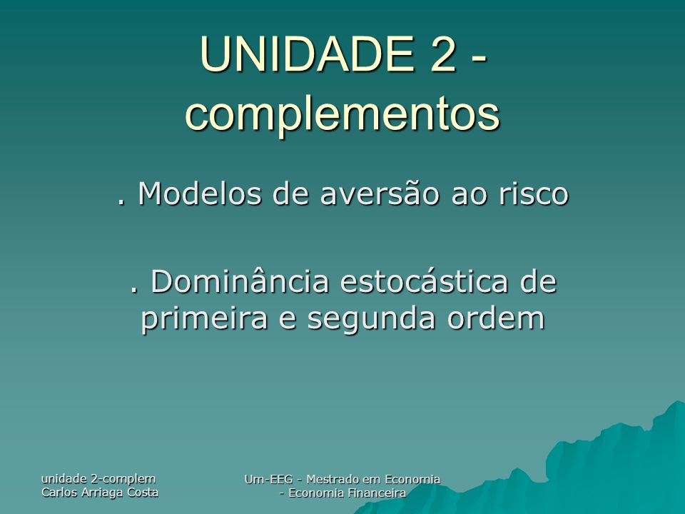 UNIDADE 2 -complementos