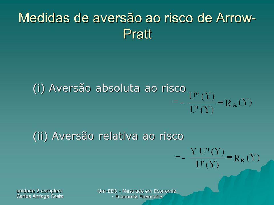 Medidas de aversão ao risco de Arrow-Pratt