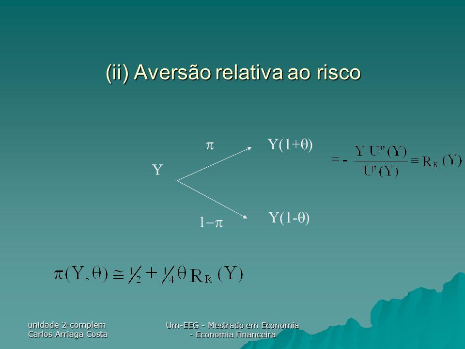 (ii) Aversão relativa ao risco