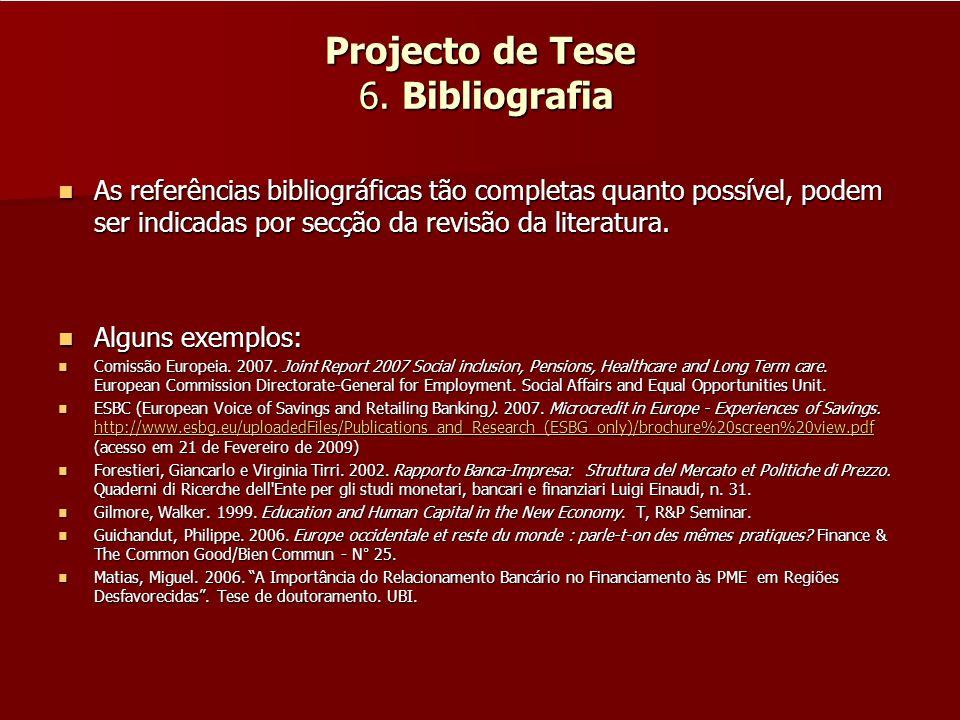 Projecto de Tese 6. Bibliografia