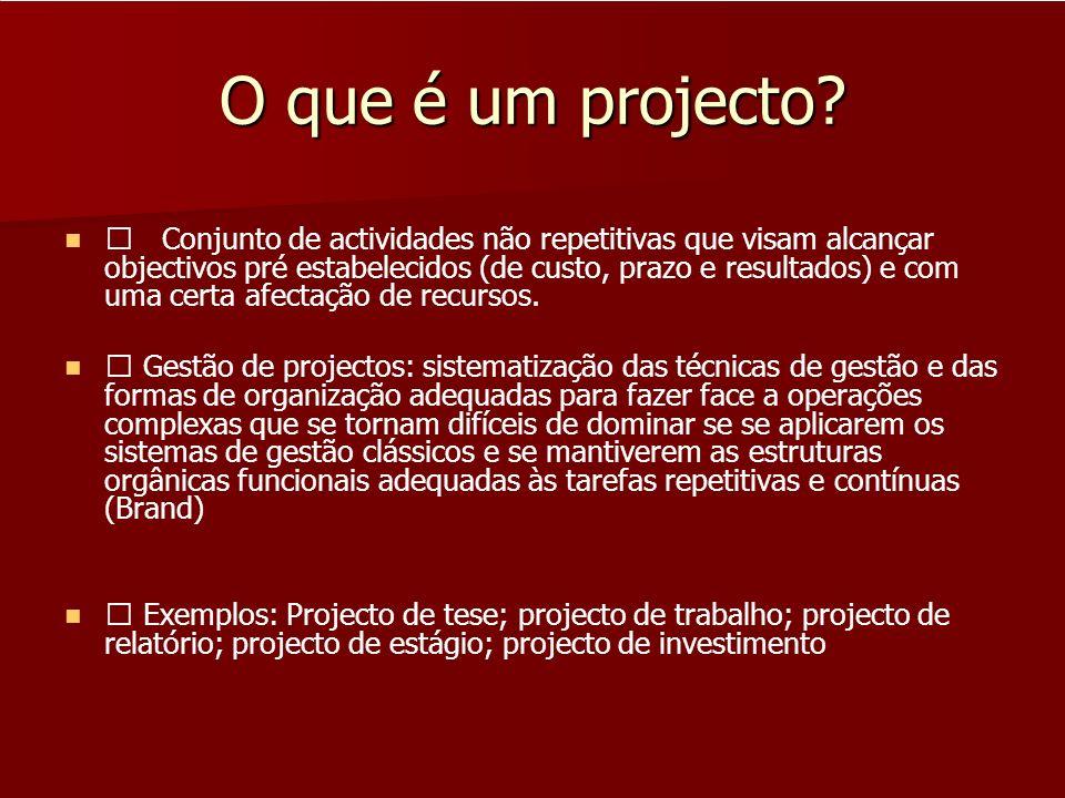 O que é um projecto