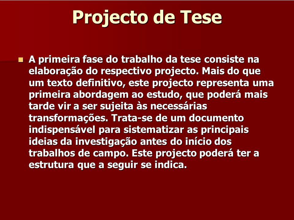 Projecto de Tese
