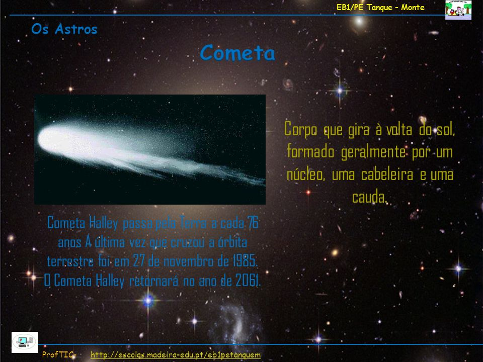 O Cometa Halley retornará no ano de 2061.