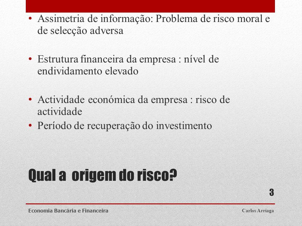 Assimetria de informação: Problema de risco moral e de selecção adversa