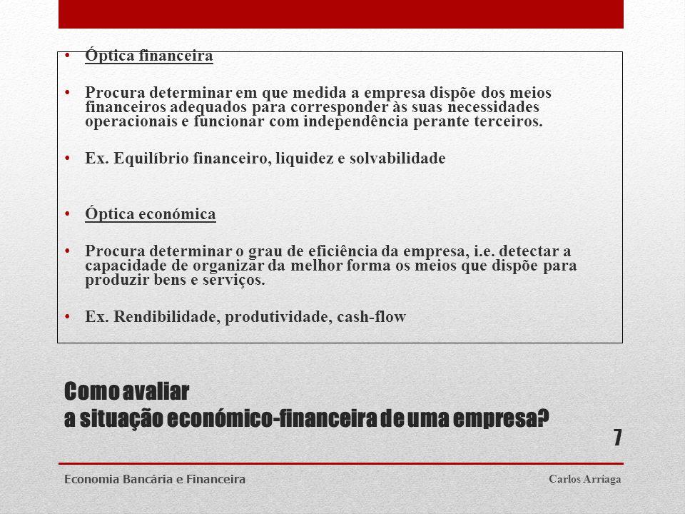 Como avaliar a situação económico-financeira de uma empresa