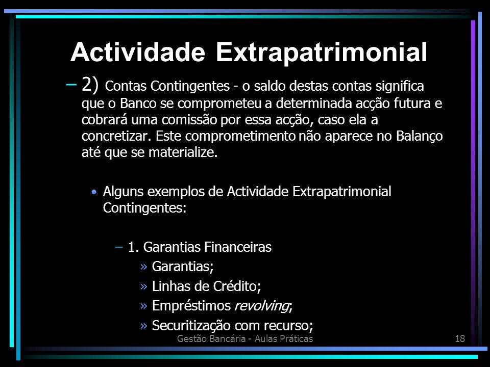 Actividade Extrapatrimonial