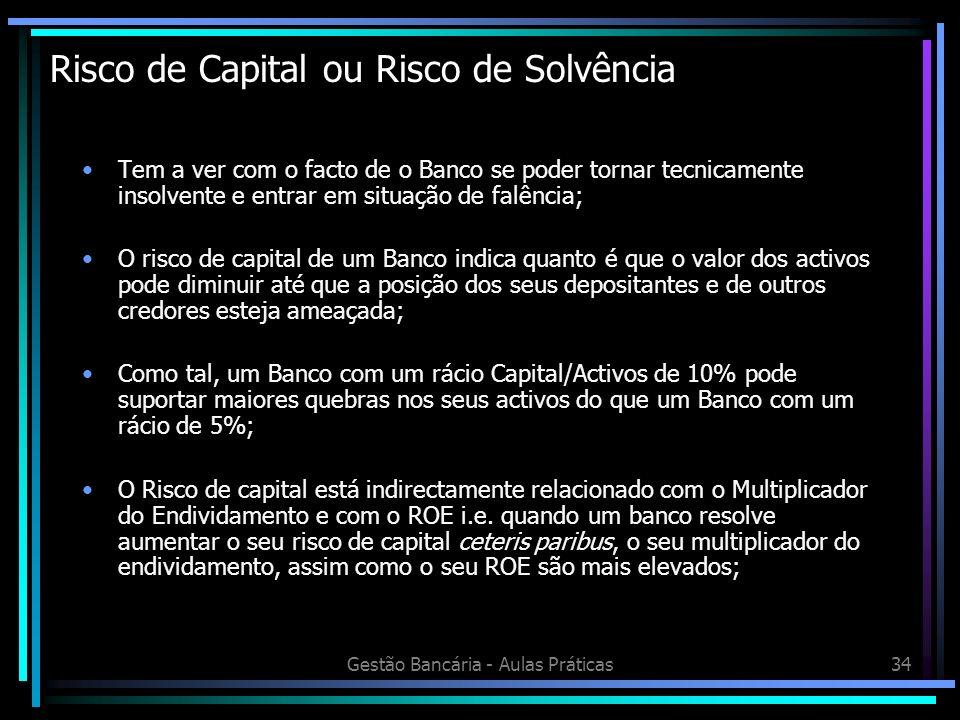 Risco de Capital ou Risco de Solvência