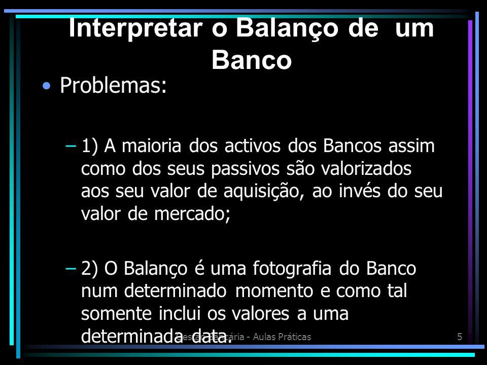 Interpretar o Balanço de um Banco