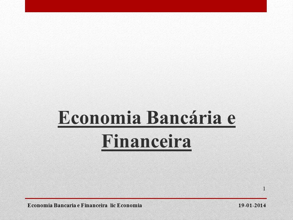 Economia Bancária e Financeira