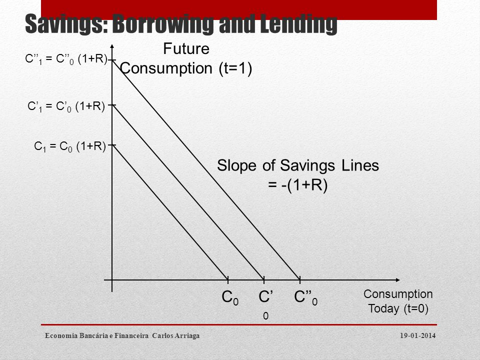 Savings: Borrowing and Lending