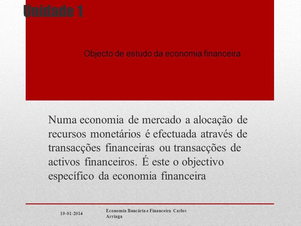Objecto de estudo da economia financeira