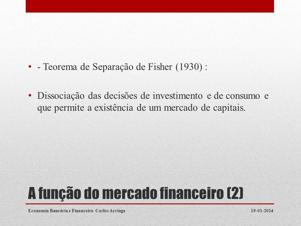 A função do mercado financeiro (2)